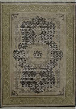 "Mahi Black Hand Knotted 5'1"" X 7'2""  Area Rug 902-112038"