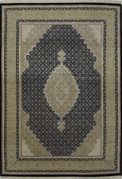"Mahi Black Hand Knotted 5'9"" X 8'0""  Area Rug 902-112039"