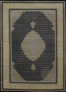 "Mahi Black Hand Knotted 5'9"" X 8'0""  Area Rug 902-112040"