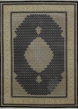 "Mahi Black Hand Knotted 5'9"" X 8'0""  Area Rug 902-112041"