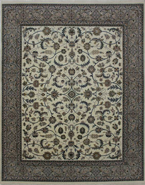 "Nain Beige Hand Knotted 8'0"" X 9'11""  Area Rug 902-112045"
