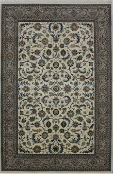 "Nain Beige Hand Knotted 6'5"" X 9'10""  Area Rug 902-112047"