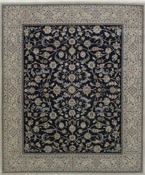 "Nain Blue Hand Knotted 8'2"" X 9'9""  Area Rug 902-112048"