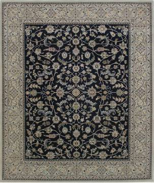 "Nain Blue Hand Knotted 4'0"" X 5'10""  Area Rug 902-112049"