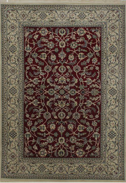 "Nain Red Hand Knotted 5'7"" X 8'1""  Area Rug 902-112050"