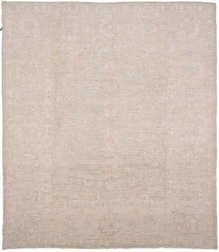 Pakistani Haji Jalili Beige Rectangle 8x10 ft Wool Carpet 112059