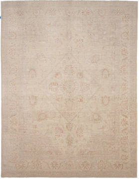 Pakistani Haji Jalili Beige Rectangle 8x10 ft Wool Carpet 112060