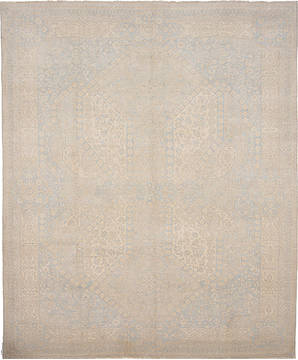 Pakistani Haji Jalili Beige Rectangle 8x10 ft Wool Carpet 112061