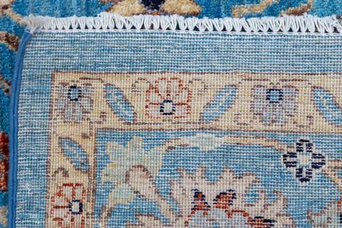 Pakistani Chobi Blue Rectangle 8x10 Ft Wool Carpet 112082