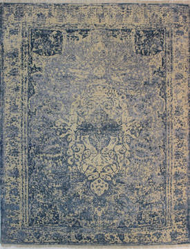 "Nepal Beige Hand Knotted 7'8"" X 9'6""  Area Rug 902-112107"