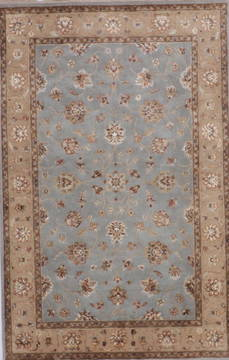 "Jaipur Blue Hand Knotted 4'0"" X 6'3""  Area Rug 905-112178"