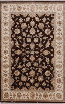 "Jaipur Brown Hand Knotted 4'0"" X 6'2""  Area Rug 905-112180"