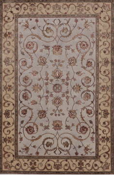 "Jaipur Grey Hand Knotted 4'0"" X 6'2""  Area Rug 905-112193"