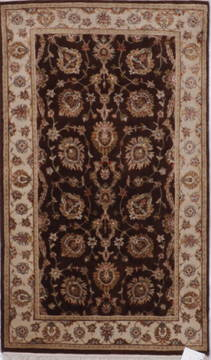 "Jaipur Brown Hand Knotted 3'0"" X 5'1""  Area Rug 905-112205"