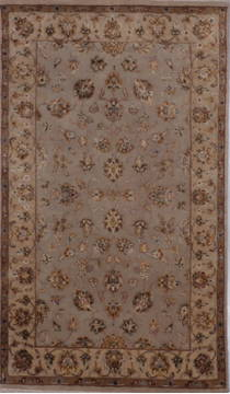 "Jaipur Grey Hand Knotted 3'0"" X 5'1""  Area Rug 905-112206"