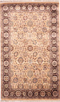"Jaipur Yellow Hand Knotted 3'10"" X 6'4""  Area Rug 905-112223"