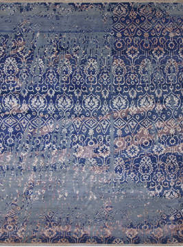 "Jaipur Blue Hand Knotted 8'1"" X 10'4""  Area Rug 905-112226"
