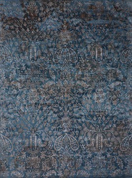 "Jaipur Blue Hand Knotted 8'11"" X 12'0""  Area Rug 905-112232"