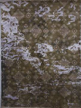 "Jaipur Brown Hand Knotted 9'1"" X 12'2""  Area Rug 905-112236"
