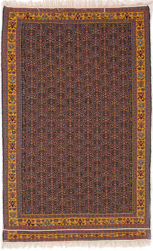 "Kilim Multicolor Hand Knotted 4'11"" X 7'8""  Area Rug 254-112259"