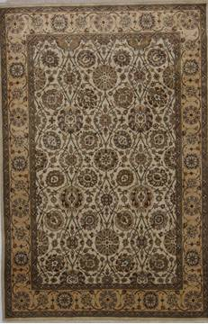 "Jaipur Beige Hand Knotted 4'0"" X 6'1""  Area Rug 905-112263"