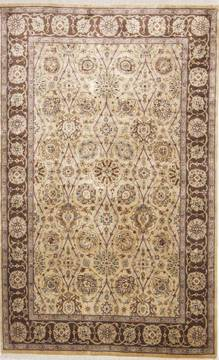 "Jaipur Yellow Hand Knotted 3'10"" X 6'1""  Area Rug 905-112269"