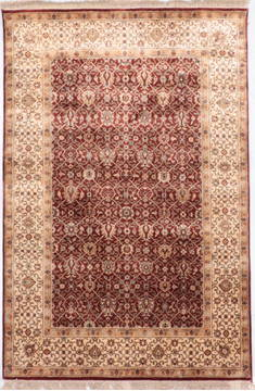 "Jaipur Red Hand Knotted 3'11"" X 5'11""  Area Rug 905-112271"