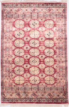 "Jaipur Red Hand Knotted 4'0"" X 6'0""  Area Rug 905-112272"
