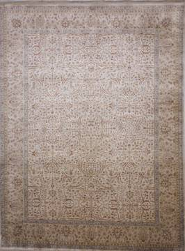 "Jaipur Beige Hand Knotted 9'1"" X 12'1""  Area Rug 905-112273"