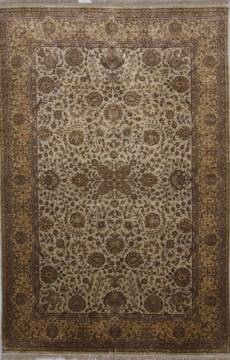 "Jaipur Beige Hand Knotted 6'0"" X 9'0""  Area Rug 905-112274"