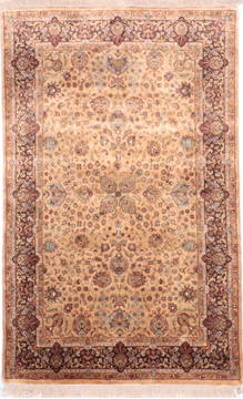 "Jaipur Yellow Hand Knotted 3'11"" X 6'2""  Area Rug 905-112275"