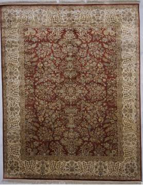 "Jaipur Red Hand Knotted 7'11"" X 10'1""  Area Rug 905-112278"
