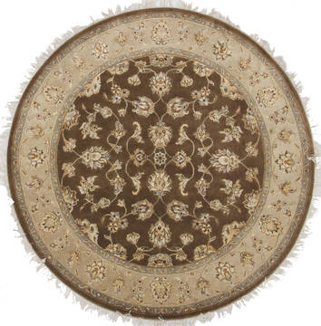 "Jaipur Brown Round Hand Knotted 5'0"" X 5'1""  Area Rug 905-112288"