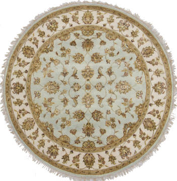 "Jaipur Blue Round Hand Knotted 5'0"" X 5'2""  Area Rug 905-112300"