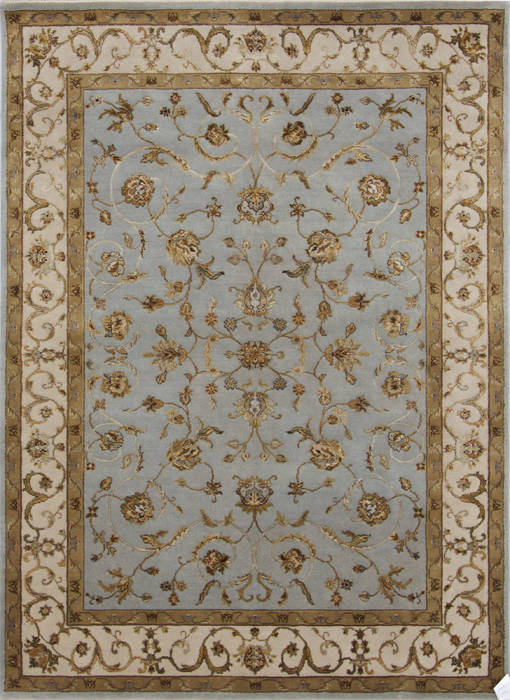 5x7 Ft Wool And Raised Silk Carpet