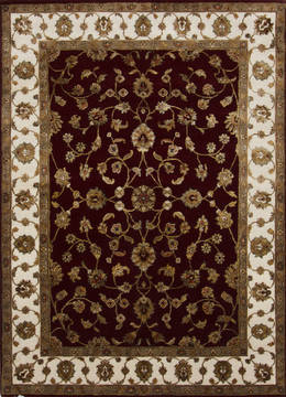 "Jaipur Red Hand Knotted 5'0"" X 7'1""  Area Rug 905-112323"