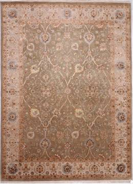 "Jaipur Green Hand Knotted 9'0"" X 12'3""  Area Rug 905-112350"