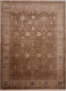 "Jaipur Yellow Hand Knotted 9'0"" X 12'2""  Area Rug 905-112357"
