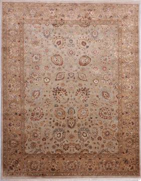 "Jaipur Beige Hand Knotted 8'0"" X 10'1""  Area Rug 905-112358"