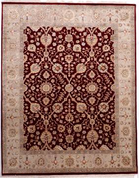 "Jaipur Red Hand Knotted 8'1"" X 10'2""  Area Rug 905-112377"