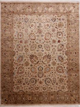 "Jaipur Beige Hand Knotted 8'0"" X 10'3""  Area Rug 905-112381"