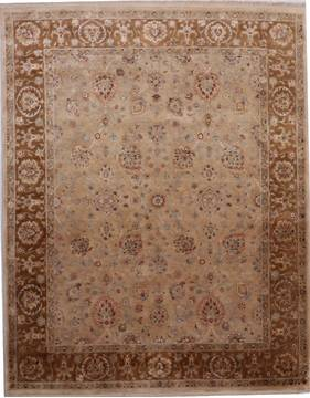 "Jaipur Brown Hand Knotted 8'1"" X 10'1""  Area Rug 905-112382"