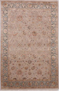 "Jaipur Brown Hand Knotted 6'0"" X 9'2""  Area Rug 905-112462"
