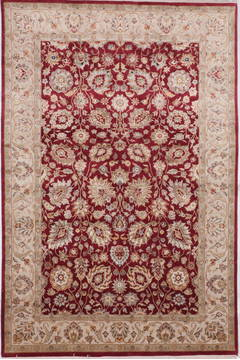 "Jaipur Red Hand Knotted 6'0"" X 9'1""  Area Rug 905-112463"