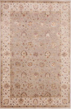 "Jaipur Grey Hand Knotted 6'1"" X 9'3""  Area Rug 905-112489"