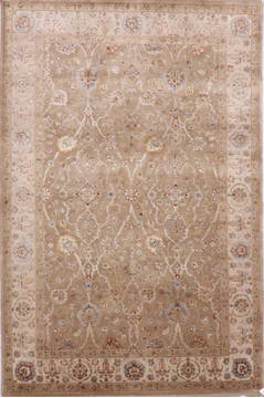 "Jaipur Yellow Hand Knotted 6'2"" X 9'3""  Area Rug 905-112495"