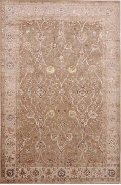 "Jaipur Yellow Hand Knotted 6'0"" X 9'2""  Area Rug 905-112498"