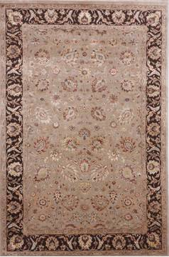 "Jaipur Beige Hand Knotted 6'0"" X 9'1""  Area Rug 905-112499"