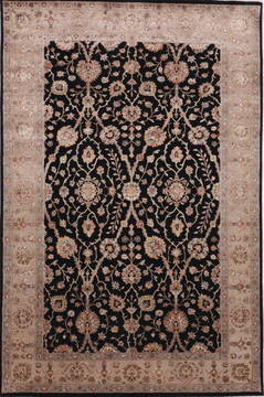 "Jaipur Black Hand Knotted 6'0"" X 9'2""  Area Rug 905-112504"