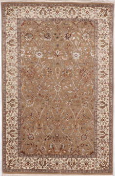 "Jaipur Brown Hand Knotted 4'0"" X 6'1""  Area Rug 905-112507"